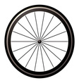 aerodynamic front road wheel vector image