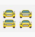 car emoticon yellow smiles vector image