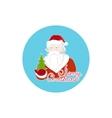 Colorful Icon Santa Claus vector image