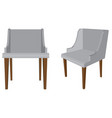 grey chair all front and left view isolated on vector image