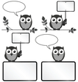 Owls with copy space vector image