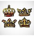 Set of doodle crowns vector image