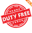 Stamp sticker Duty free collection - - EPS1 vector image