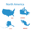 north america - maps of territories vector image