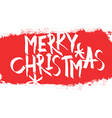 Merry Christmas Postcard With red erased area vector image vector image