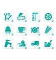 stylized services and business icons vector image vector image