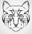 Cat Face Tattoo Design vector image vector image