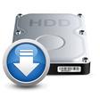 hard disk drive vector image vector image