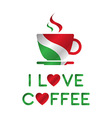 I love coffee A cup of coffee vector image