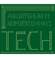 motherboard alphabet vector image vector image