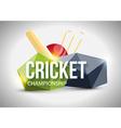 Cricket concept sport background eps 10 vector image
