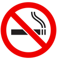 The sign No Smoking vector image vector image