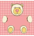 bear for baby girl vector image