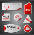black friday stickers vector image