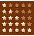 Game wooden web rating stars set vector image