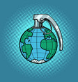 planet grenade ecology and politics vector image