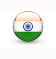 Round icon with national flag of India vector image