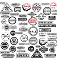 rubber stamps collection vector image
