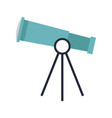 telescope for astronomy science study equipment vector image