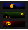 Set of Colorful Halloween Banner vector image vector image