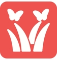 Butterflies over Plants vector image