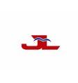 JL Logo Graphic Branding Letter Element vector image