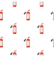 Fire extinguisher icon cartoon pattern silhouette vector image