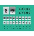 Arrival and Departure Scoreboard vector image