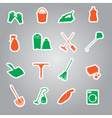 cleaning stickers set eps10 vector image
