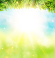 Abstract spring poster with shining sun and vector image