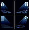 light beams vector image vector image