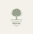 herbal and alternative medicine logo design vector image