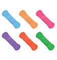 colorful icons sticking plasters vector image vector image