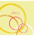 Abstract background with colored circles vector image