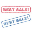 best sale exclamation textile stamps vector image