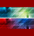 bright abstract technology headers banners vector image