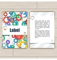 Card with Gears vector image