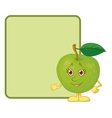 Character apple and poster vector image