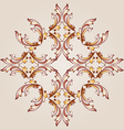Flower pattern henna vector image