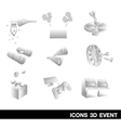 Icon Set Event 3D vector image