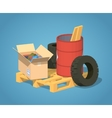 Low poly pile of trash vector image