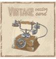 Retro 50s phone stylish vintage postcard vector image