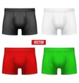 Set Male of different colors underpants briefs vector image