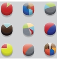 set of 3D pie charts business items without vector image