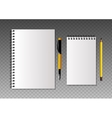 Set of realistic template notebooks vector image