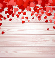 Valentines background with hearts vector image