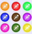 Sagittarius icon sign Big set of colorful diverse vector image
