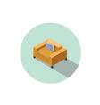isometric modern orange comfortable armchair vector image