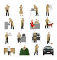 Detective Characters Collection vector image