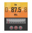 radio application template vector image